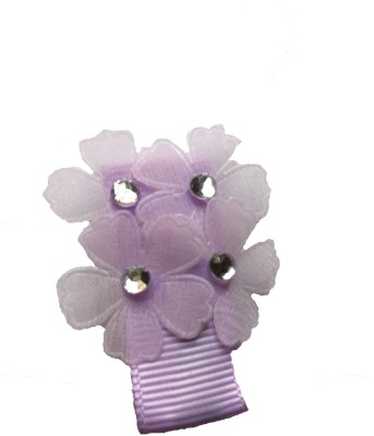 Bellazaara Multi-Flower With Rhinestone :Lilac Hair Clip