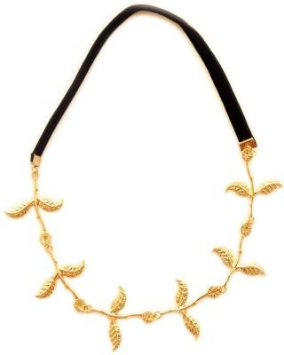 Golden Petals Olive Leaf Head Band