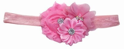Pink & Blue India Attractive Flower Bouquet with Soft Elastic Head Band