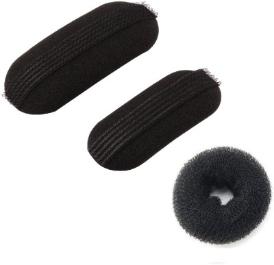 Pankh Puff And Donut Bun Maker Hair Accessory Set