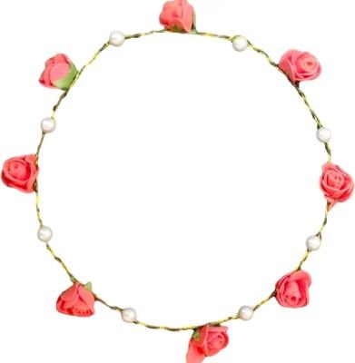 A&P ENTERPRISES Red flower crown/tiara with precious pearl Head Band