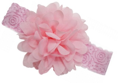 BabyZinnia Chiffon Flower Net Weave Head Band