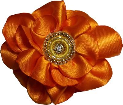 Advance Hotline Orange Floral Design Banana Clip