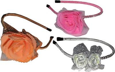Juhi Pink, Orange & White Floral Hair Accessory Set