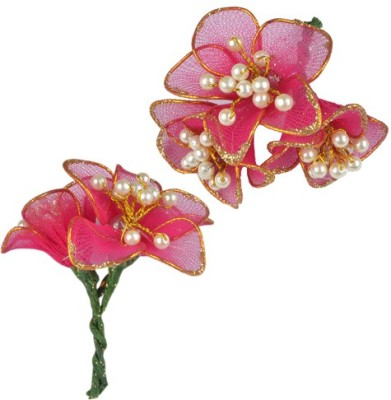 Majik Artificial Flowers Accessories Hair Clip