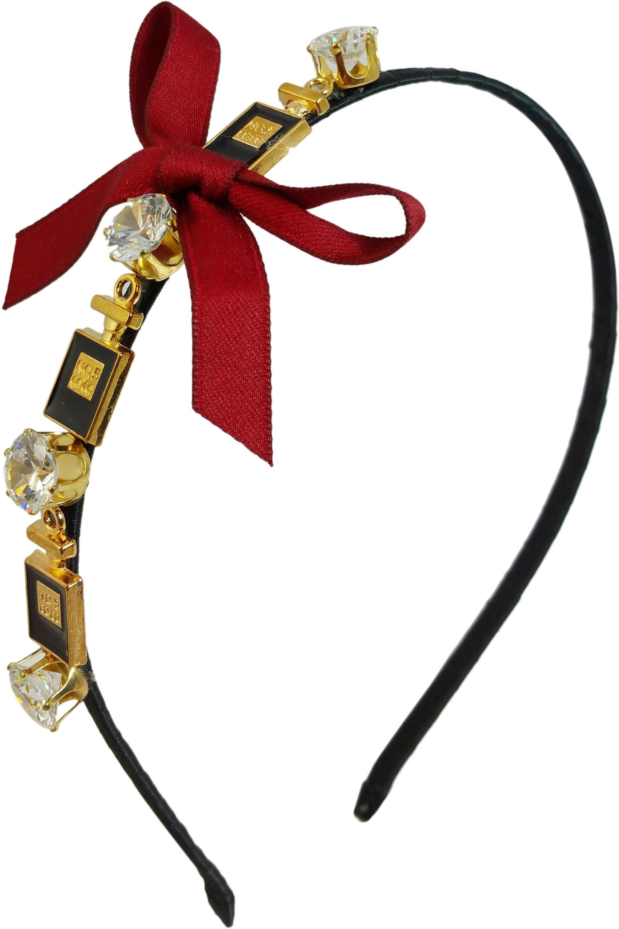 Ammvi Creations Badges and CZ Solitaires Ornated for Women Hair Band(Multicolor)