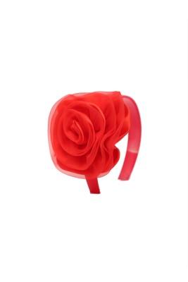 Soni Fashions Red Flower Hair Band