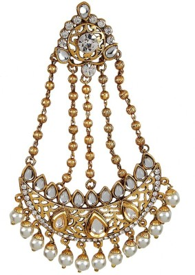 9blings Traditional Style Kundan Pearl Hair Accessory Set