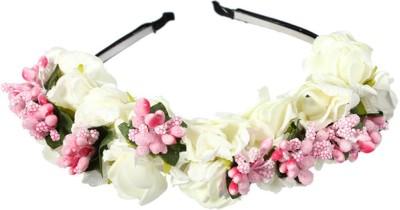 Sanjog Boho Crown Headwrap Wedding Garland Floral Tiara Hair Band