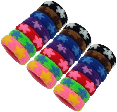 Best & Lowest Soft Flower Design Rubber Hair Bands For Girls & Women Rubber Band