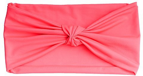 MoKo Headband for Men & Women, MoKo Versatile Casual & Sports Headwear Solid Multi-use Stretchy Breathable Moisture Wicking Head Wrap for Workout, Running, Yoga, Fashion & More - Pink Head Band(Pink)