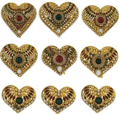 Abhushan Heart Simbol With Stones Hair Pin