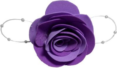 Apeksha Arts Purple Floral Brooch Hair Pin