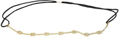 TakeIncart Golden Rectangle Stone Fitted Head Band