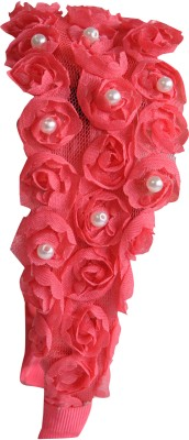 Hopscotch Rose Red With Pearl Hair Band