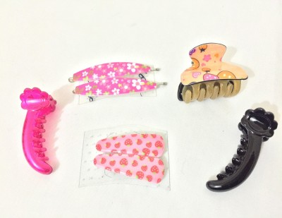 Ecombasket Combo of 7 School Girls Tic Tac Clip, Hair Pin, Hair Claw, Banana Clip