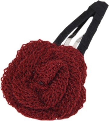 Young & Forever Maroon Rose Hair Clip