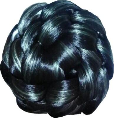 Ragahv Hairs Grey Highliter In Black Hair Bun