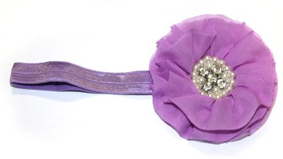 BabyCouture Chiffon Flock Of Pearls Diamond Head Band