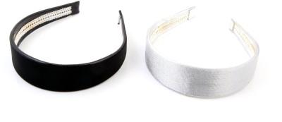 Sanjog Glitter Sparkly Silver And Black For Girls/Kids Hair Band