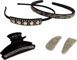 Mangal Beaded Hair band & Hair Pin Hair ...