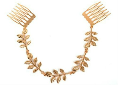 Creative India Exports Gold Leaves Claw Hair Chain(Gold)