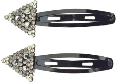 Ecombasket Designer AD Stone 1 Pear of Black Tic Tac Clip