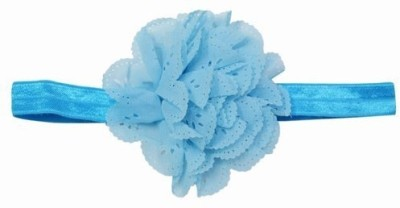 Pink & Blue India Big Flower Baby Girl Head Band