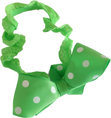 NeedyBee Green Soft Elastic Infants Toddlers Baby Girls with Polka Dot Bow Head Band