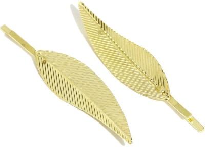 ToniQ Set of 2 Gilded Leaf Hair Pin