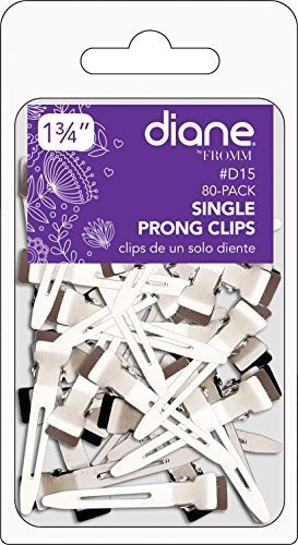 """Diane Diane 1.75"""" Single Prong Clips, 80-pack Hair Clip(Multicolor)"""