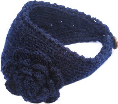 ToniQ Stylish Winter Woollen Blue Head Band