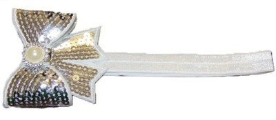 BabyCouture Sparkling Sequin Bow & Pearl Head Band