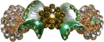Shreya Collection Fashion Green Colour Stone Studded Hair Clip Back Pin