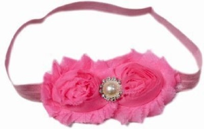 Pink & Blue India Cute Pearls Net Floral Baby Head Band