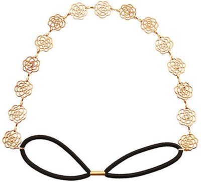 Young & Forever Golden Roses Touch Head Band(Gold)