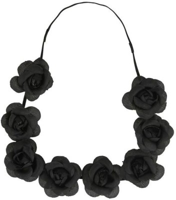 ToniQ Festival Floral Black Rose Tiara Head Band