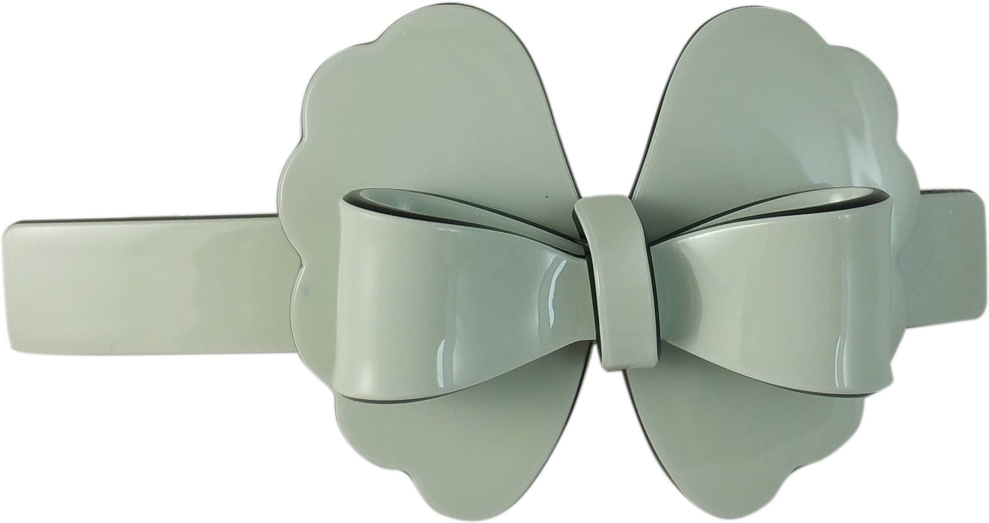 Ammvi Creations Floral-Bow Pattern Solid Gracious for Women Hair Clip(Green)
