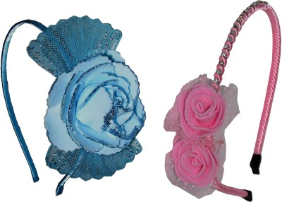 GD Blue Bow & Pink Floral Hair Accessory Set