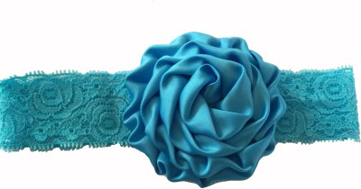 Bellazaara BELLAZAARA Christening Baby Lace Rose Blue Flower Headband Head Band