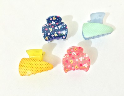 Ecombasket Combo of 4 Printed Honey Hair Claw
