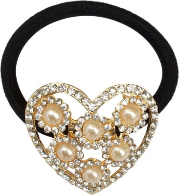 B-Fashionable Pearl Heart Rubber Band