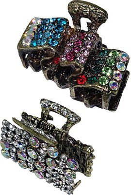 Anjan Anjan Combo Desigener Diamond Studded Antique Hair Pin Accessories Hair Pin