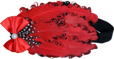 Anch Party Reds Feather Head Band
