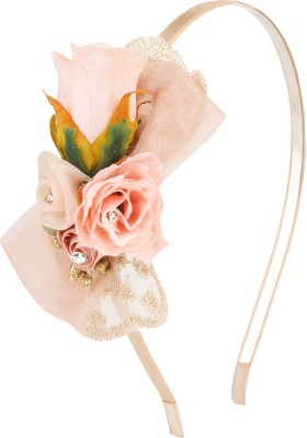 Fayon Contemporary Statement Pink Roses Hair Band