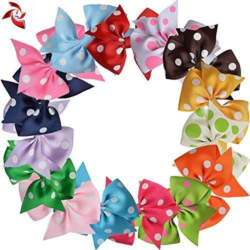 """Xuanli Xuanli? 15 Pcs 3"""" Hair Bows For Girls Teens Kids Children Hair Grosgrain Ribbon Alligator Clip Accessories (TY02801) Hair Clip(Multicolor)"""