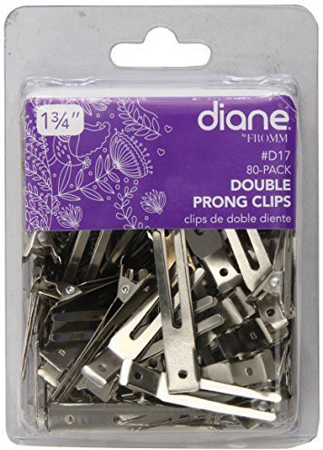 Diane Double Prong Clip 1.75 Inches, 80 Clips Hair Clip(Multicolor)