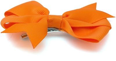 NeedyBee Orange Grosgrain Ribbon Bow Toddlers Baby Hair Clip