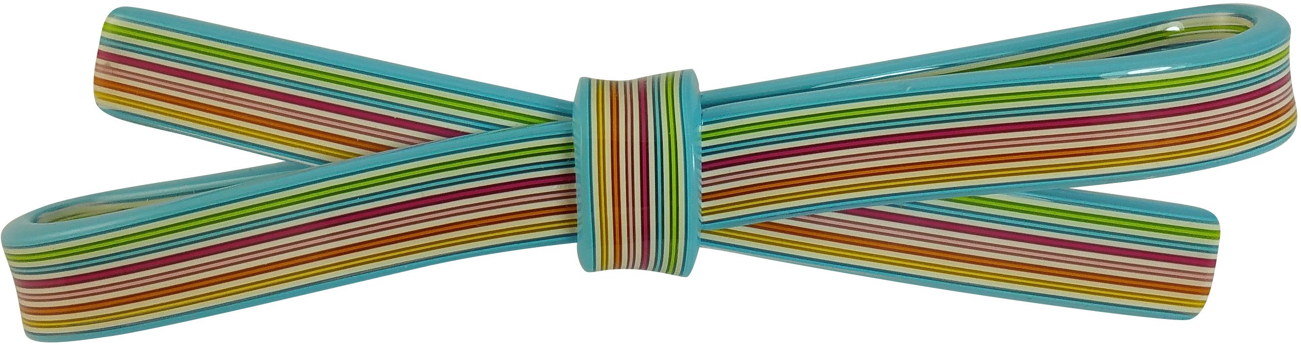 Ammvi Creations 10 mm Multicolur Straight Swatches Pattern Sleek Bow for Women Hair Clip(Blue)