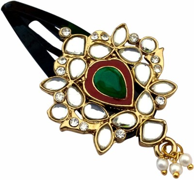 B-Fashionable Drop Kundan Tic Tac Clip